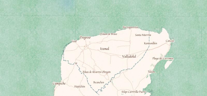 Mapa de Yucatán